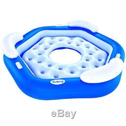Bestway 3 Seater Island Inflatable Swimming Pool Lounger Floating Ring Bed Lilo