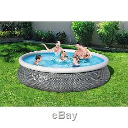 Bestway 57375E-BW 13ft x 33in Round Inflatable Above Ground Swimming Pool Kit