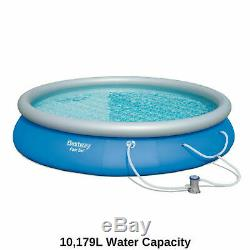 Bestway Above Ground Swimming Pool Round Family Pool Inflatable Filter Pump 15ft