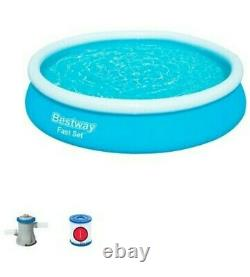 Bestway Fast Set 12' x 30 Swimming Pool with Filter Pump. Fast Shipping