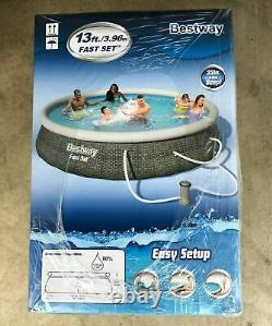 Bestway Fast Set Inflatable Swimming Pool 13' x 33 with Filter Pump and Filter
