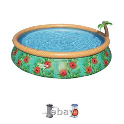 Bestway Fast Set Paradise Palms Round Inflatable Pool Set 179.9 x 179.9 x 33 in