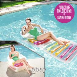 Bestway Folding Lilo 79 x 35 Lounger Beach Swimming Pool Inflatable Float