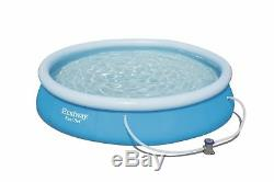 Bestway Inflatable 12x30 Fast Set Family Round Paddling Swimming Pool ABW57274