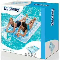 Bestway Inflatable Double Swimming Pool Lounger Beach Sun Bed Floating Mat Lilo