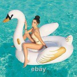 Bestway Inflatable Luxury Beach Float Toy Swan Ride On Swimming Pool Rider Lilo