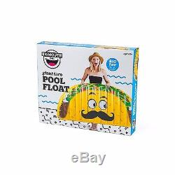 BigMouth Inc GIANT TACO Inflatable Swimming Pool Summer Float Raft Tube