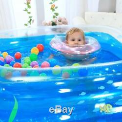 Blue Large Inflatable Swimming Pool Safe PVC Kids Baby Swimming Pool Portable