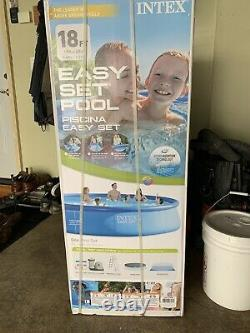 Brand New Intex 18'x48 Inflatable Easy Set Above Family Swimming Pool