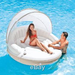 Canopy Island Float Lounge Inflatable Pool Lake Floating Shade Swimming Outdoor