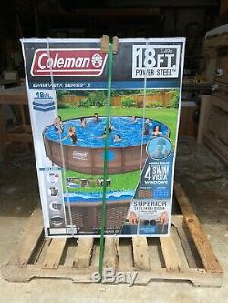 Coleman 18ft 18x48 intex Above Ground Swimming Pool Summer Waves Inflatable Game