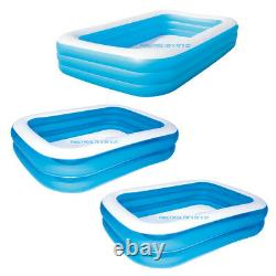 Deluxe Inflatable Family Patio Garden Rectangular Paddling Swimming Pool