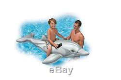Dolphin Ride-On Inflatable Kids Swimming Pool Toy Childrens Float Animal Raft