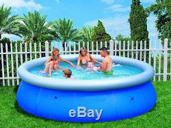 Easy Fast Set 10ft x 30 10'foot Family Swimming Paddling Pool Garden Outdoor