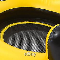 Float Inflatable Island 4 Person Seats Yellow Pool Float Fun River Lake Pool