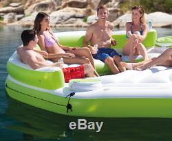 Floating Island Large Giant Inflatable lounger Float Pool Lake Pond Raft Water