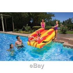 Fun Poolside Water Slide Game Rider Pool Float Raft Inflatable Kids Swimming Toy