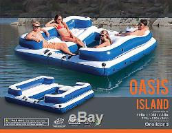 Giant Inflatable Floating Island Raft 5Person Party Lounge Water Lake Pool River