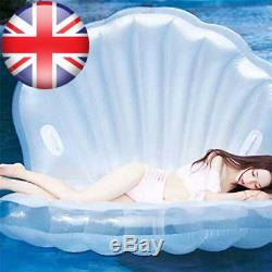 Giant Inflatable Swimming Pool Rideable Float Toy Raft Mermaid Sea Shell for