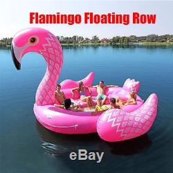 Giant Party Island Flamingo Inflatable Float Boat Pool Floats for up to 6 People