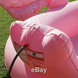 HUGE Inflatable Flamingo Sprayer Pool 6 Person Ride Island Float Lake Lounge Toy