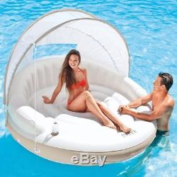 Huge Inflatable Floating Canopy Sunshade Pool Island Beach Party Raft Float 78