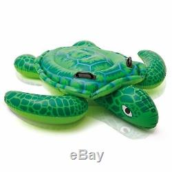 INFLATABLE Sea Turtle Summer Play Float Swimming Pool Toy Stable Ride On New