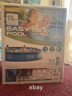 INTEX 15ft x 33in Inflatable Easy Set Pool with FILTER PUMP FACTORY SEALED