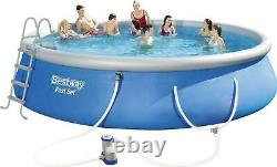 Inflatable Above Ground Swimming Pool Fast Set with Filter Pump 18' x 48 New