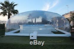 Inflatable Above Ground Swimming Pool Solar Dome Cover Tent With Blower & Pump