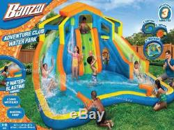Inflatable Bounce Pool Jump Blast Water Cannon 2 Slides Ball Floats KID TOY Park