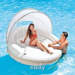 Inflatable Canopy Island Float Lounge For Swimming Pool Water Lake Sunshade New