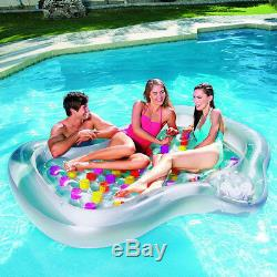 Inflatable Double Designer Swimming Pool Bestway Lounger Airbed Water Lilo Boat