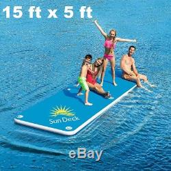 Inflatable Floating Dock Raft Family Swimming Pool Float Party Sun Deck Platform