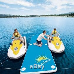 Inflatable Floating Dock Raft Family Swimming Pool Float