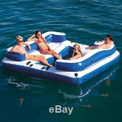 Inflatable Floating Island Party 8-Person Pool Lake Lounge Raft Water Float Tube