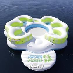 Inflatable Floating Island Party 8-Person Pool Lake Lounge Raft Water Tube GIANT