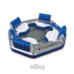 Inflatable Floating Island Pool Lake Water Party Giant Raft Lounge Fits 4 Person