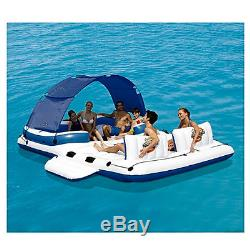 Inflatable Floating island 6 person Water Raft Boat Lounge Pool River Party Tube