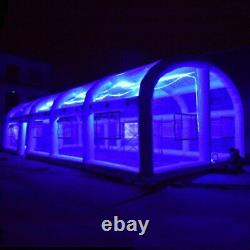 Inflatable Frame Swimming Pool Dome Tent Cover With or Without LED Lighting