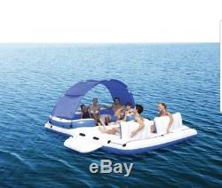 Inflatable Island Floating 6Person Lake Raft Party Lounge Pool Water Float