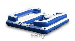 Inflatable Island Party Raft Floating Pool 4 Person Lake River Giant Lounge Swim