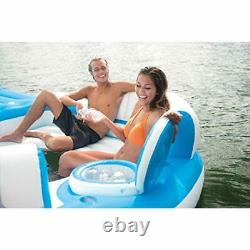 Inflatable Island Raft Floating Lounge Pool Party Lake Cooler Float Toy 7 Person