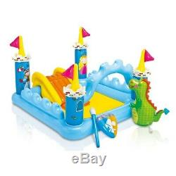 Inflatable Kids Fantasy Castle Water Pool Play Center Children Swimming Backyard