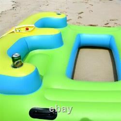 Inflatable Oasis Island 4-Person Pool Lake Relaxation Floating Lounge Water Raft