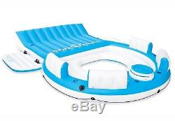 Inflatable Oasis Island 7-Person Pool Lake Floating Sea Water Rafting Party New