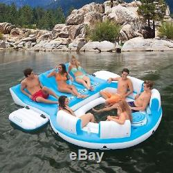 Inflatable Oasis Island Pool Party 7-Person Lake Rafting Floating Sea Water
