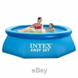 Inflatable Pool Backyard DIY 8ft X 30in with Filter Pump Large Swimming 639 Gal