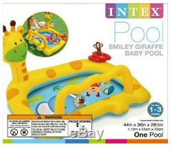 Inflatable Pool Swimming Water Fun Giraffe Summer Beach Baby Toy Ages 1-3 Gift