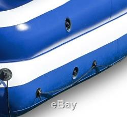 Inflatable Raft Boat 5 Person Floating Party Lounge Lake River Pool Beach Water